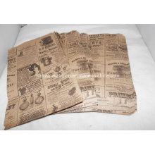 Impresión baratos Brown Kraft bolsa de papel con estampación en caliente