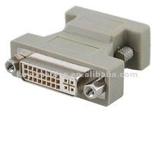 VGA TO DVI 24PIN Convertisseur ADAPTATEUR HD15PIN MALE À DVI-I MALE pour HDTV Moniteur LCD Affichage