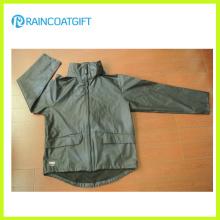 РВК-172 качество 100% водонепроницаемая ПОЛИУРЕТАНОВАЯ дождя куртку