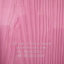 Placa de revestimento de silicato de cálcio com grão de madeira colorido