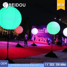Venta al por mayor de fábrica de PVC globos de iluminación de publicidad inflables Tripod Stand Globo