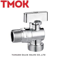 chromed plated brass toilet flush angle valve
