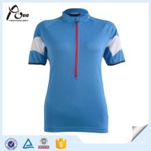 China Fabrik Jersey Benutzerdefinierte Blank Blau Fahrradbekleidung