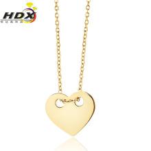 Coração em forma de aço inoxidável colar de jóias de moda (hdx1101)