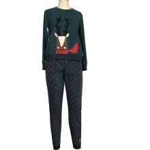 Factory Price Custom Comfortable Soft Size Christmas Sleepwear Womens Winter Velour Pj Set