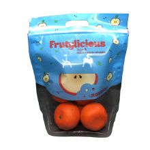 Fresh Vegetable Fruit Salad Packaging Pouch Bag Stand up Clear Plastic Food Package LDPE Gravure Printing OEM BOPP Disposable