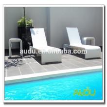 Audu - Sillón de piscina blanco de aluminio