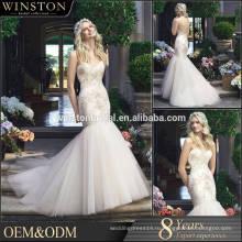 2015 новый дизайн на заказ русалка плюс Размер свадебное платье