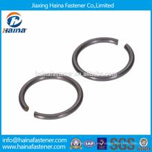 En Stock China Proveedor DIN 7993 Acero Inoxidable Con Zinc Plated Roundwire anillos elásticos para el eje