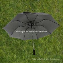27 Inches Black 2-Folding EVA Handle Auto Open Umbrella (YS2F0009-2)