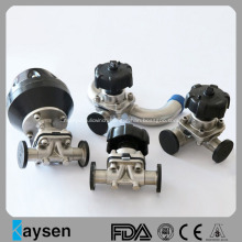 Sanitary Pneumatic Operated Diaphragm Valves with Clamp Ends