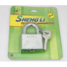 Cadeado quadrado barato do ferro da fábrica por atacado com chave da aleta