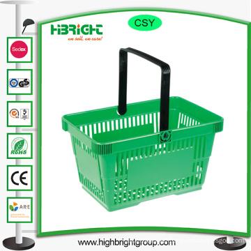 Transparent Color Plastic Shopping Basket