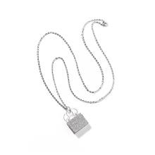 2020 Fashion Women Silver Bags Shaped Women Necklace