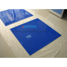 Membrane de silicone bleue spéciale pour stratifié en verre, feuille de caoutchouc de silicone, coussinet en caoutchouc de silicone, joint en caoutchouc