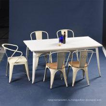 Промышленные кафе Белый лак стол tolix стула и набор стульев (СП-CT673)