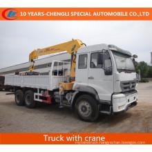 HOWO 6X4 266HP Truck with Straight Boom Crane