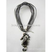 Regalos de amor al por mayor Collar de cristal de Lampwork Collar Collar de vidrio de Lampwork colgante de serpiente con cordón de cera