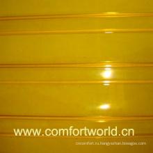 Двери ПВХ занавес желтый