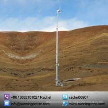 Hybrid-Solar-Windenergie-Erzeugungssystem für erneuerbare Energien durch den Einsatz von Turbinen.