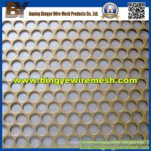 Maille métallique perforée utilisée dans Decoratice