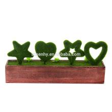 Mouvement de lettres de joie Décoration de jardin en bois de noel