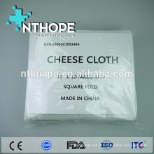 gaze de tecido de gaze de algodão orgânico descartável