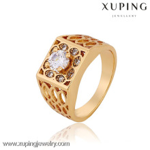 12770-Xuping joyería fábrica al por mayor saudí oro hombres anillos