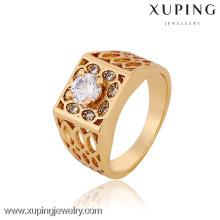 Jóias de fábrica 12770-Xuping atacado saudi ouro homens anéis