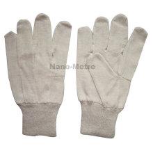 NMSAFETY 8oz cotton drill glove, knit wrist knitted cotton working gloves