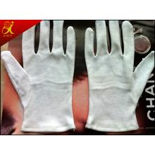 Blanc matière coton, gants de travail