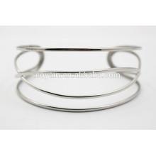 Special design silver cuff twisty bangle bracelet