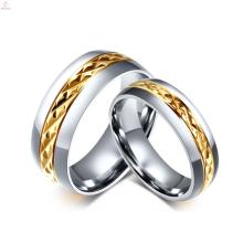 2017 titanium steel plating gold ring lock design for couples