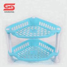 2 camadas de plástico rack de armazenamento de cozinha multifuncional