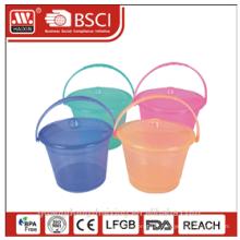 seau en plastique W/couvercle 4L / 6L / 8L / 10L / 13L