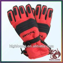 Red Waterproof Thinsulate Self-Hearing Polyester Neue Stil Ski Handschuhe