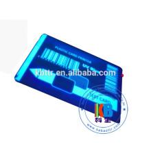 Ruban UV bleu clair transparent matériel matériel de résine pour l'impression d'étiquette en plastique de PVC d'hologramme