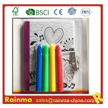 Kids Drawing Notebook with Lock and Water Color Pen