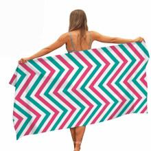 Allow 3-5cm Size Differ Multi-Purpose Us Sublimation Customized Microfiber Sport Gym Towel Beach Towel