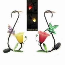 Beautiful Garden Hanging Decoration Solar Light Metal Lantern