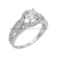 Elegant 925 Bijoux en argent, anneau en laiton (KR3036)