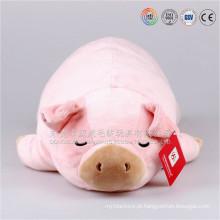 Brinquedo feito sob encomenda por atacado super macio do porco do luxuoso da porcelana do velboa para a criança ICTI Auidted