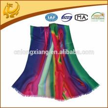 cashmere feel printed custom made wool shawl