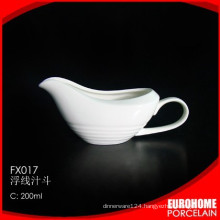 Crockery tableware white ceramic sauce 10oz gravy boat