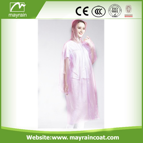 High Quality PE Raincoat Rainwear