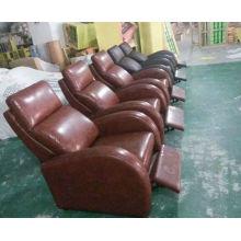 Simple Design Genuine Leather Recliner Sofa (Y1000)