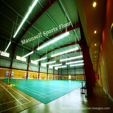 Hochwertiger Sportboden für Badminton Court