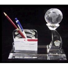 держатель кристалл ручка с моделью земли и карты держатель,кристалл часы
