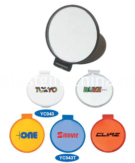 Promotional Round Plastic Makeup Mirrors