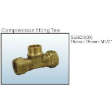 hot sale compression fitting tee with uk style